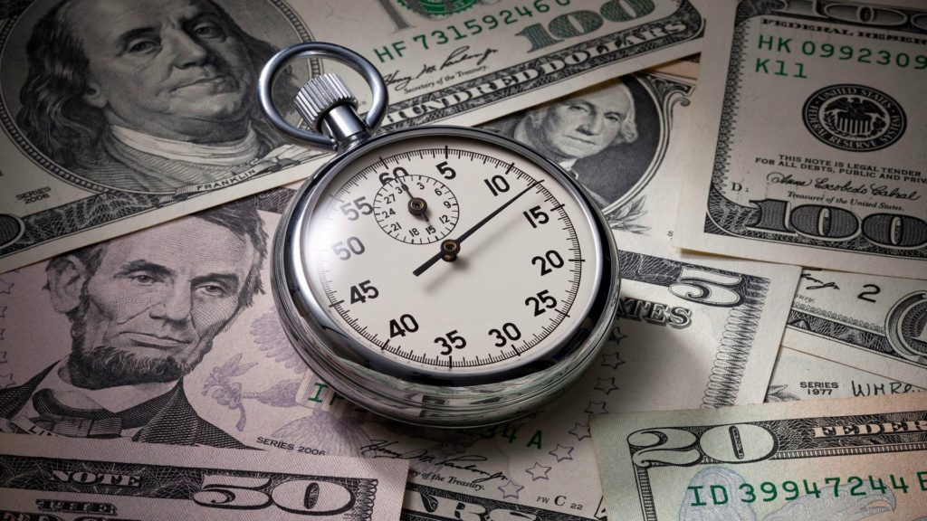 your time is as valuable as cash
