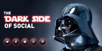 your social links have gone dark star wars vader